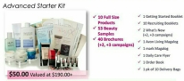 Choose the $50 kit & you will receive 10 full size products, over 50 beauty samples, 40 brochures, Starter Guidebook & all the business tools you need to start your Avon business.