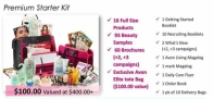 Choose the $100 kit & you will receive 16 full size products, over 90 beauty samples, 60 brochures, an Exclusive Avon Elite Tote Bag, a Starter Guidebook & all the business tools you need to start your Avon business.