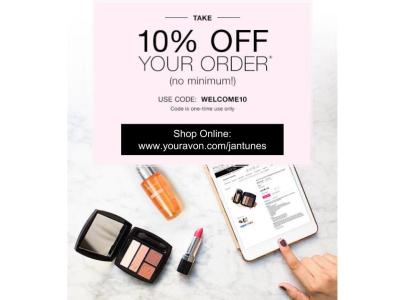 10% off any online order WELCOME10