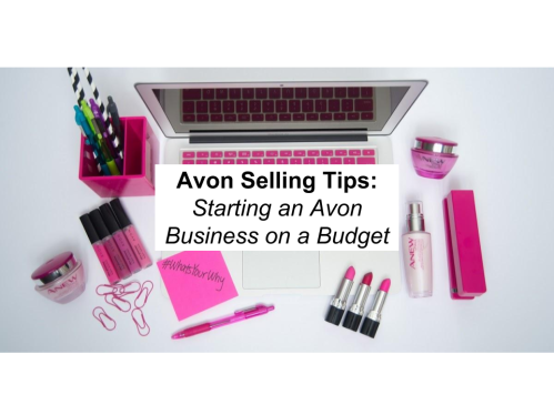 Title Image- Selling Avon on a Budget