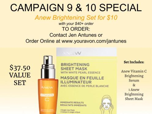 Anew Brightening Set Campaign 9-10