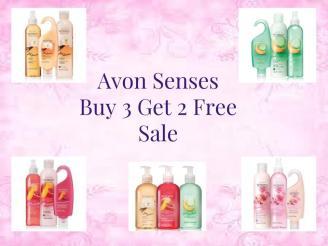 avon senses buy 3 get 2 free sale