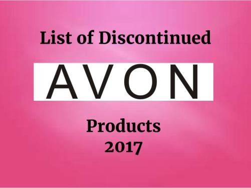 Title Image Discontinued Avon Products