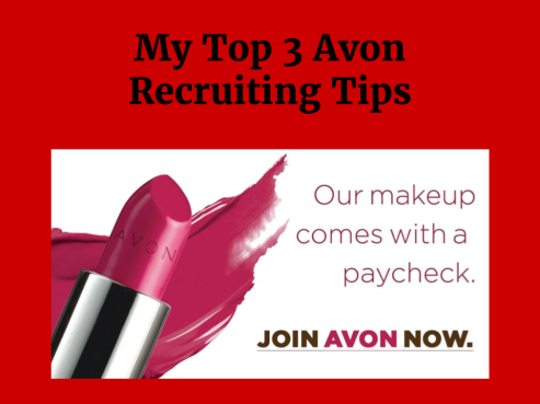 Title Image My Top 3 Avon Recruiting Tips