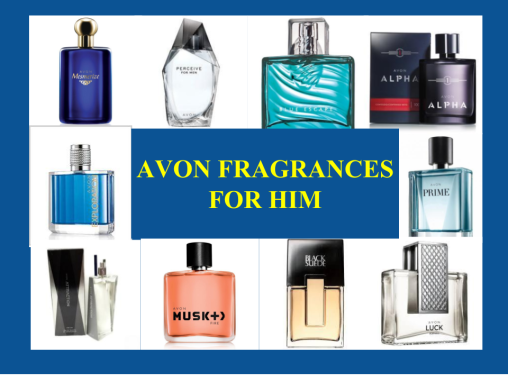 Title image Avon Fragrances for Him