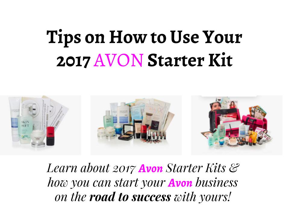 2017 AVON STARTER KIT TIPS