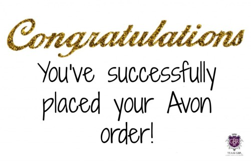 Congrats you've successfully placed your avon order