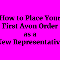AVON TRAINING: PLACING YOUR FIRST ORDER