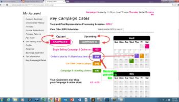 Key Campaign Dates Screen