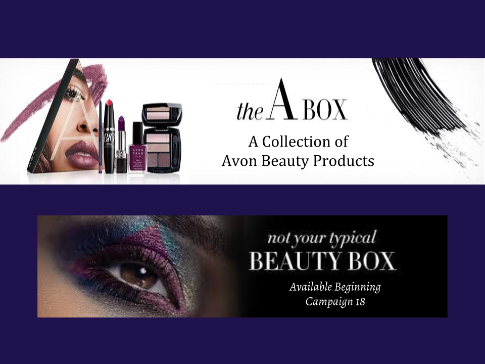 THE A BOX: A COLLECTION OF AVON BEAUTY PRODUCTS