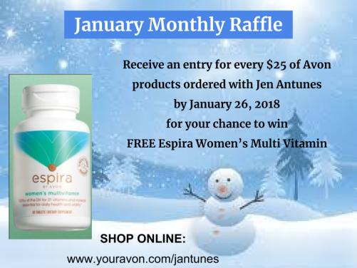January Monthly Raffle
