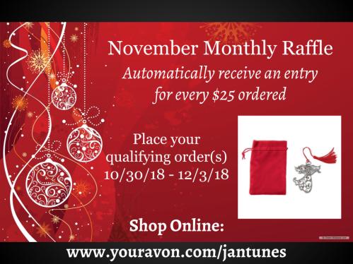 Avon with Jen Antunes November 2018 Monthly Raffle