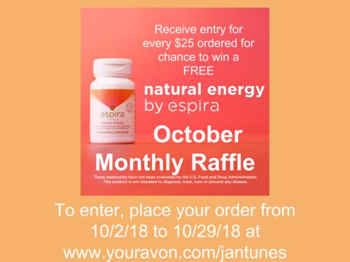 October Monthly Raffle