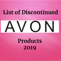 2019 LIST OF DISCONTINUED AVON PRODUCTS