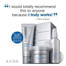 Image result for avon clearskin acne treatment system